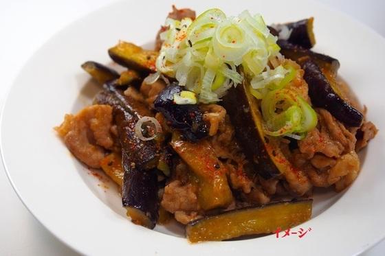 ナスとピーマンと豚肉のピリ辛みそ炒め(キムチ鍋)